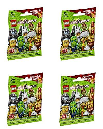 [LEGO Minifigures Series 13 - Random Set of 4 Packs (71008)] (Wizards Snake Staff)