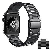 Apple Watch Correa, Simpeak Correa para Apple Watch Series 3 / 2 / 1 band de Acero Inoxidable Reemplazo de Banda de la Muñeca con Metal Corchete para Apple Watch Todos los Modelos