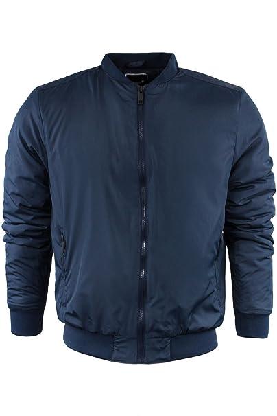Para hombre manga larga chaqueta acolchada de Brave Soul Harrington con cremallera Casual S-XL: Amazon.es: Ropa y accesorios