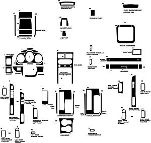 Rvinyl Rdash Dash Kit Decal Trim for Nissan Xterra 2002-2004 - Aluminum (Brushed Gunmetal)