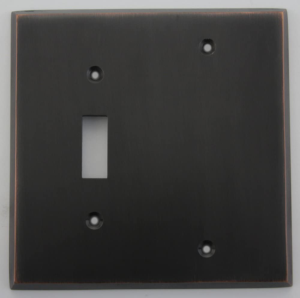 G/&H OAB301 Oval Plate Antique Bronze 1 Gang 1 or 2 Way Rocker Light Switch