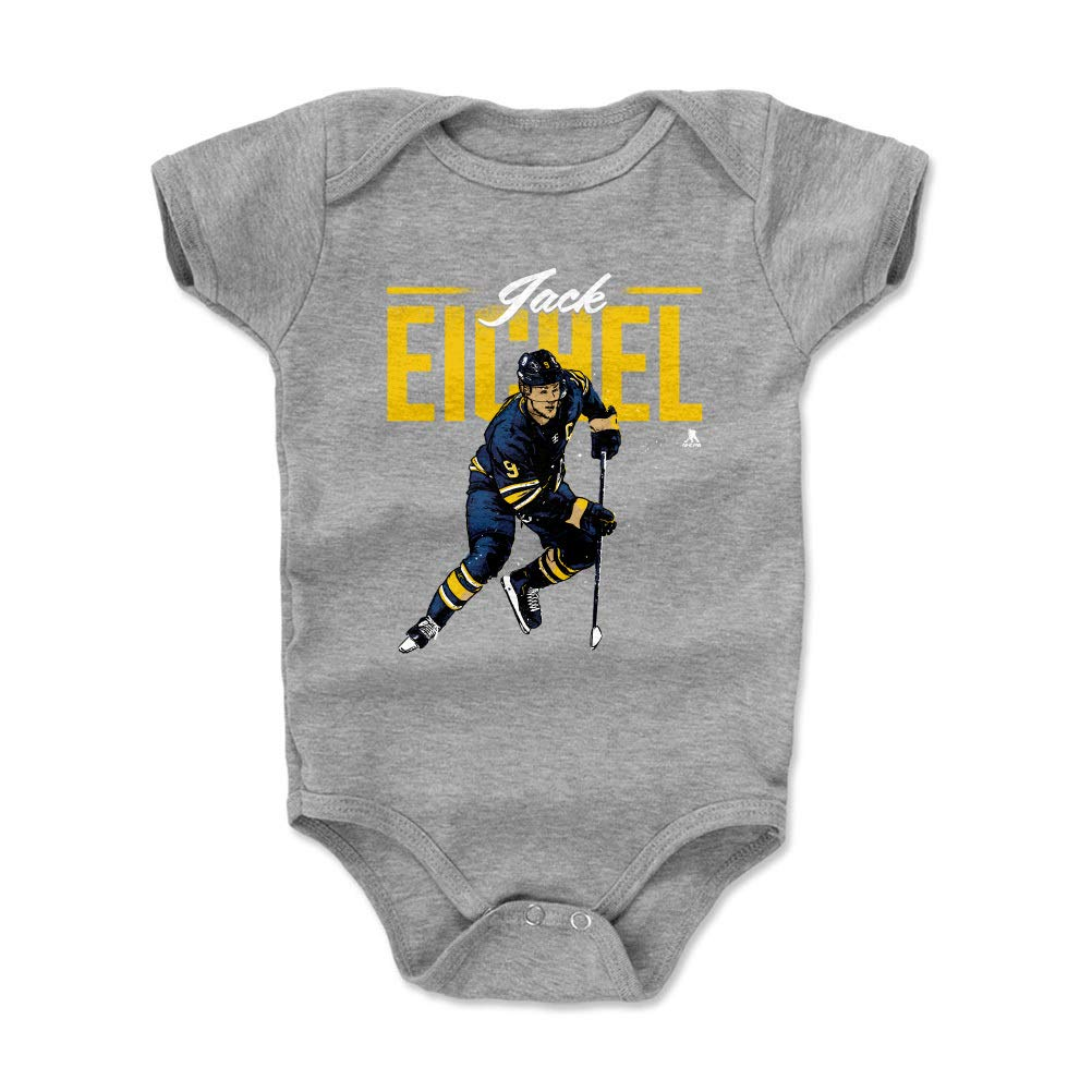 Bodysuit 3-6 Months, Heather Gray - Jack Eichel Retro Y WHT 500 LEVEL Jack Eichel Buffalo Sabres Baby Clothes Onesie Creeper