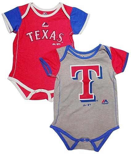 481be3e1f Amazon.com: Majestic Texas Rangers Baby/Infant 2 Piece Creeper Set ...