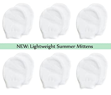 4a1846a8b81 Amazon.com  Lightweight Summer Mittens for Newborns by Nurses Choice ...