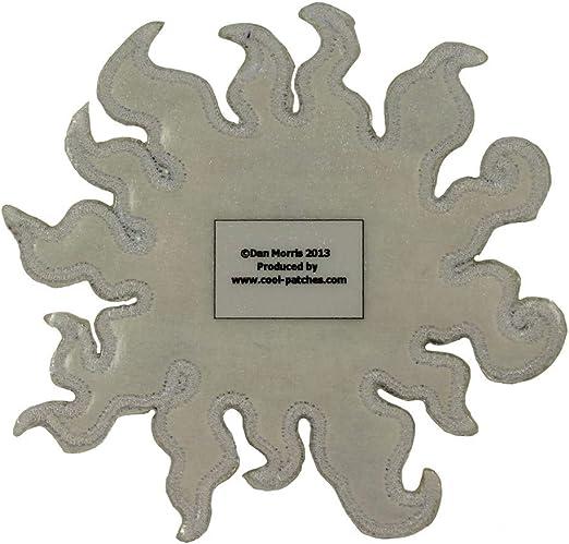 Dan Morris Moon Mushroom Patch Cosmic Hippie Psychedelic Woven Iron On Applique