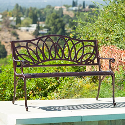 Brockway Brown Patio Bench