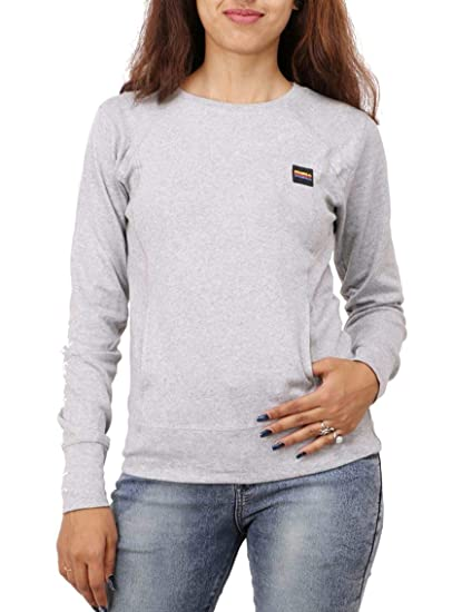 c2cced6f3 DELHI TRADERSS Women s Woolen Full Sleeve Regular Round Neck T-Shirt (Light  Grey)  Amazon.in  Clothing   Accessories