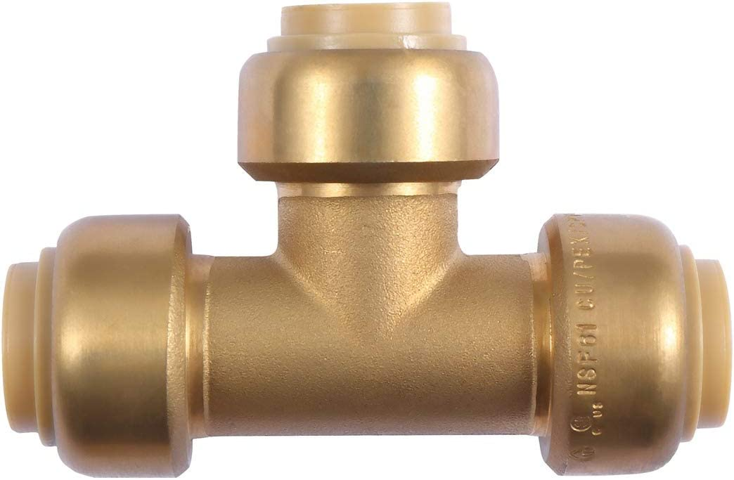 Pack of 3 Plumbing Fitting Pipe Connector Fittings Push-to-Connect Litorange Lead Free Brass 1//2 Inch PEX 90 Degree Elbow CPVC Copper
