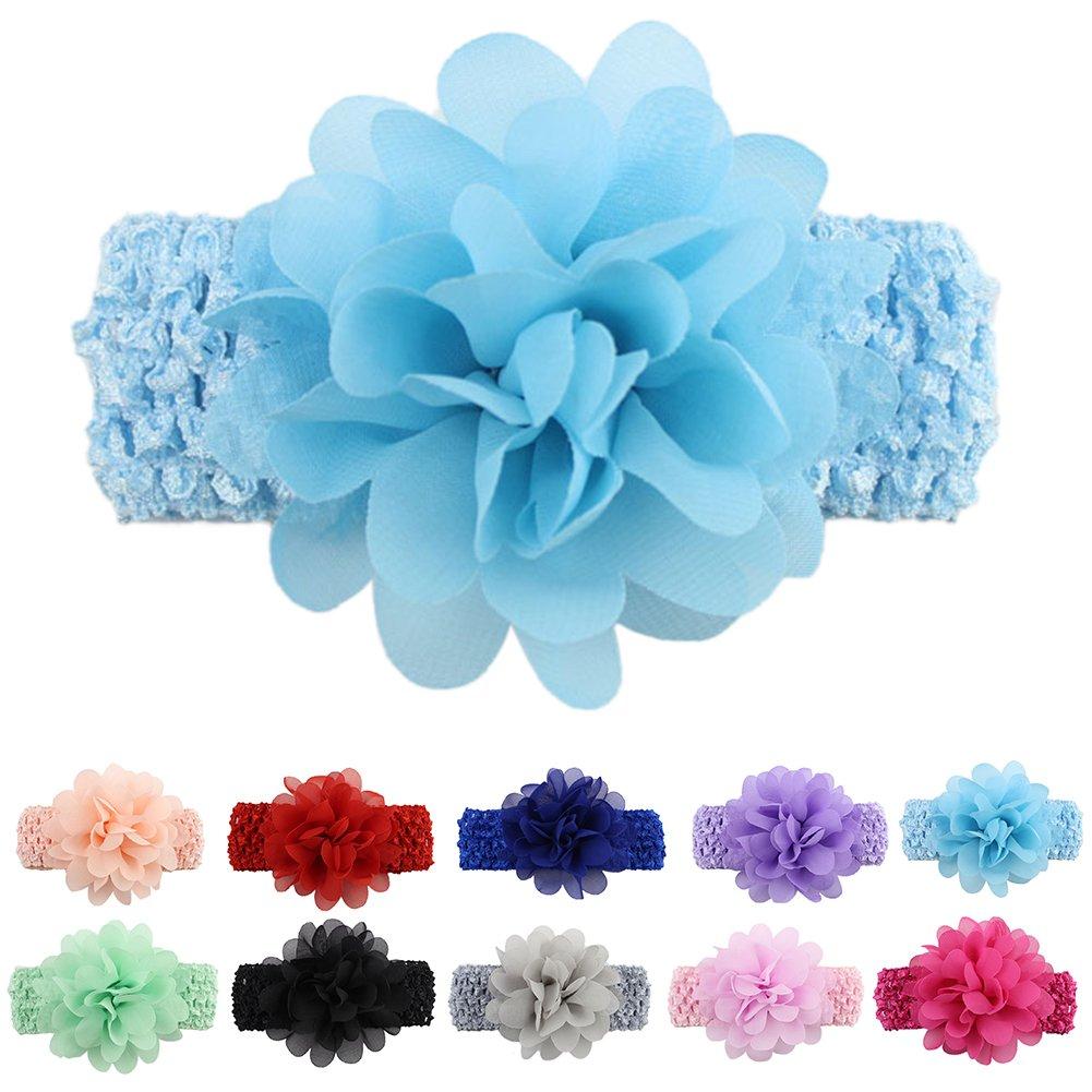 ysoutstripdu 10/PCS KIDS M/ädchen Baby Kleinkinder Blume Haarband mit Kopfbedeckungen