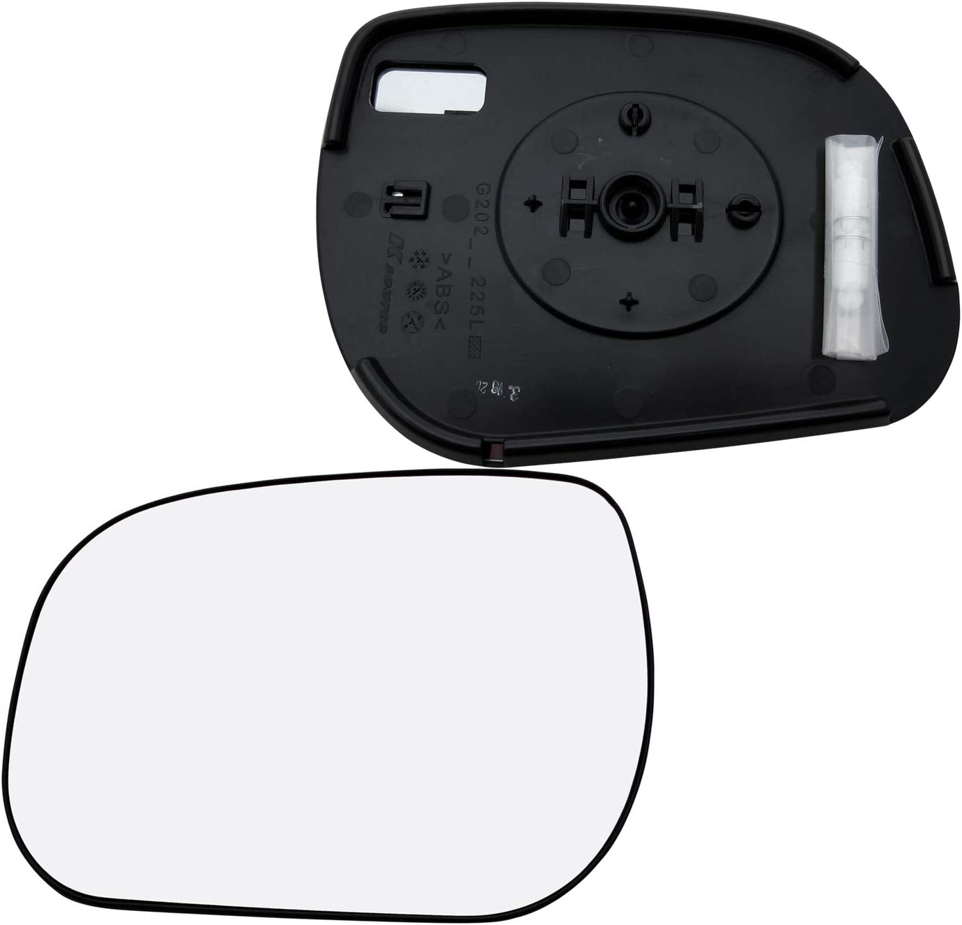 New Replacement Driver Side Mirror Glass W Backing Compatible With 2009 2010 2011 2012 Toyota RAV4 Sold By Rugged TUFF