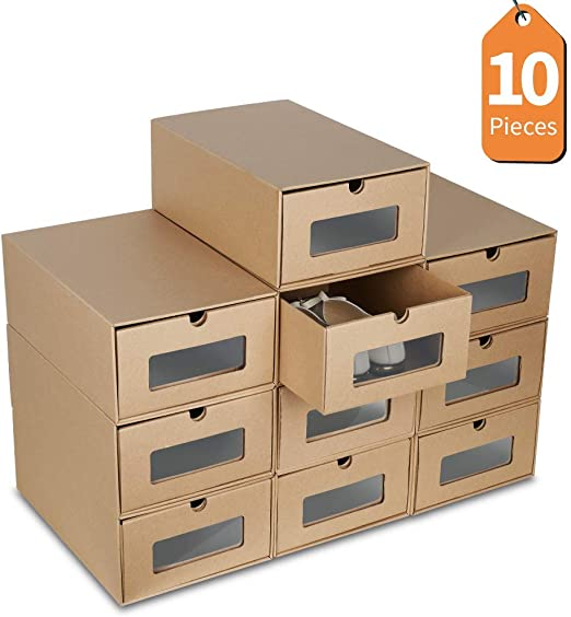 LHY SAVE Cajas De Zapatos 10 PCS De DIY Caja Zapatos Transparente ...