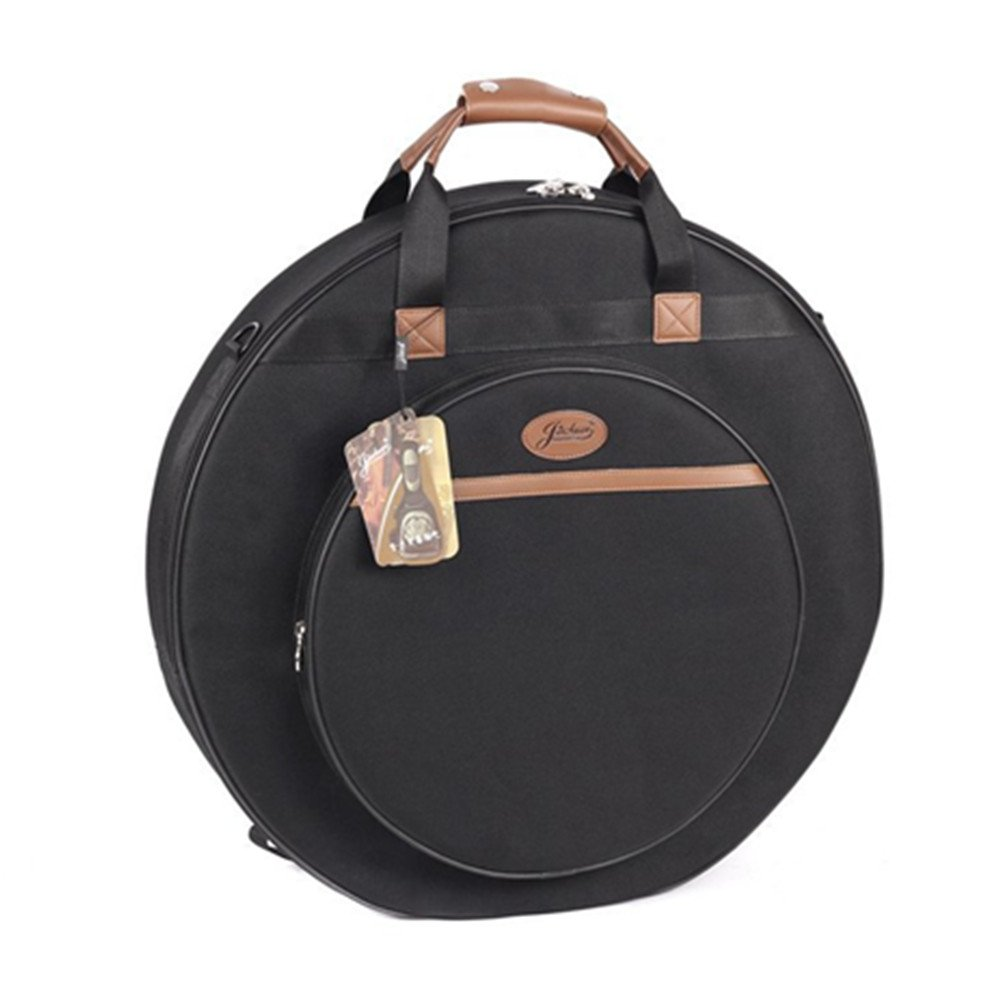 Portable 21inch Cymbal Gig Bag Case Leather Handle E-21A Black