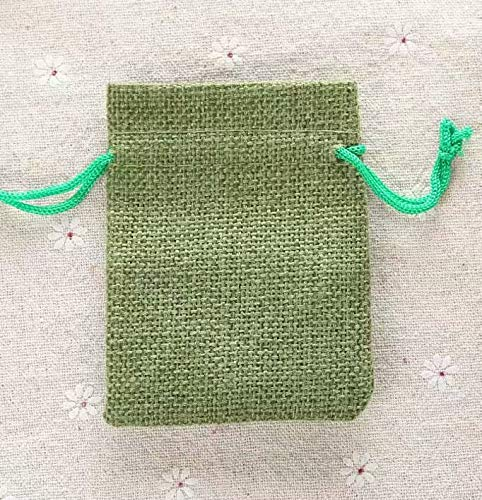 10 bolsas de regalo de yute de lino, 10 x 14 cm: Amazon.es ...