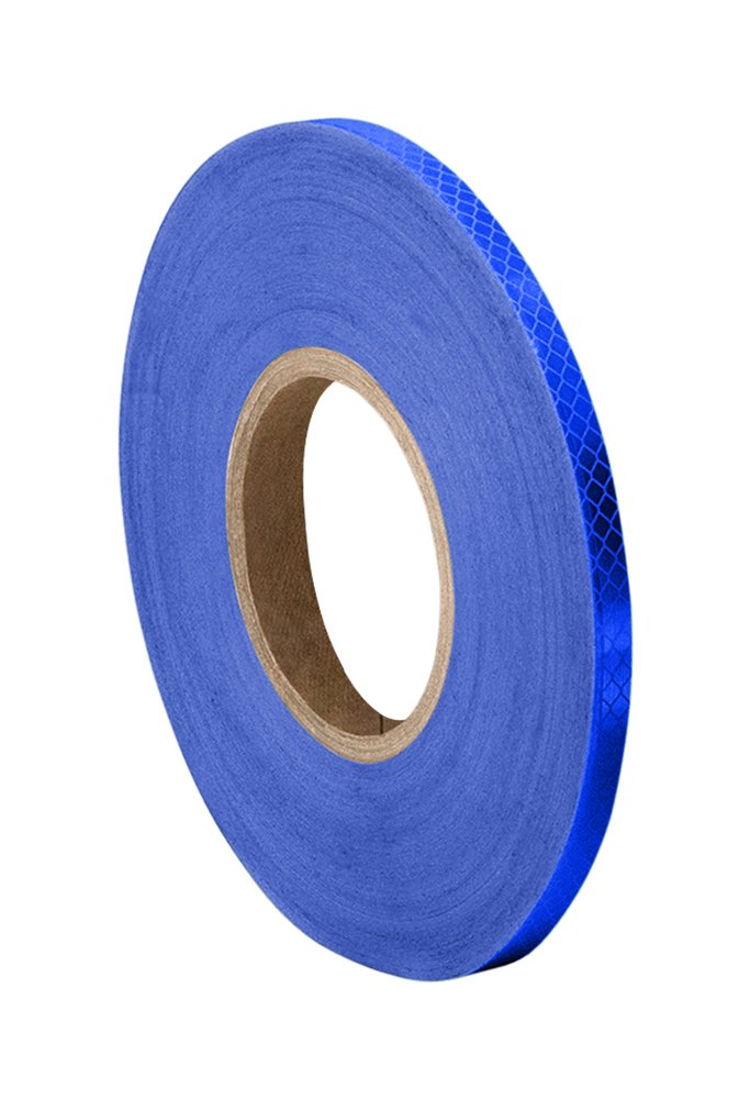 3M 3435 Blue Reflective Tape Roll - 0.25 in. x 150