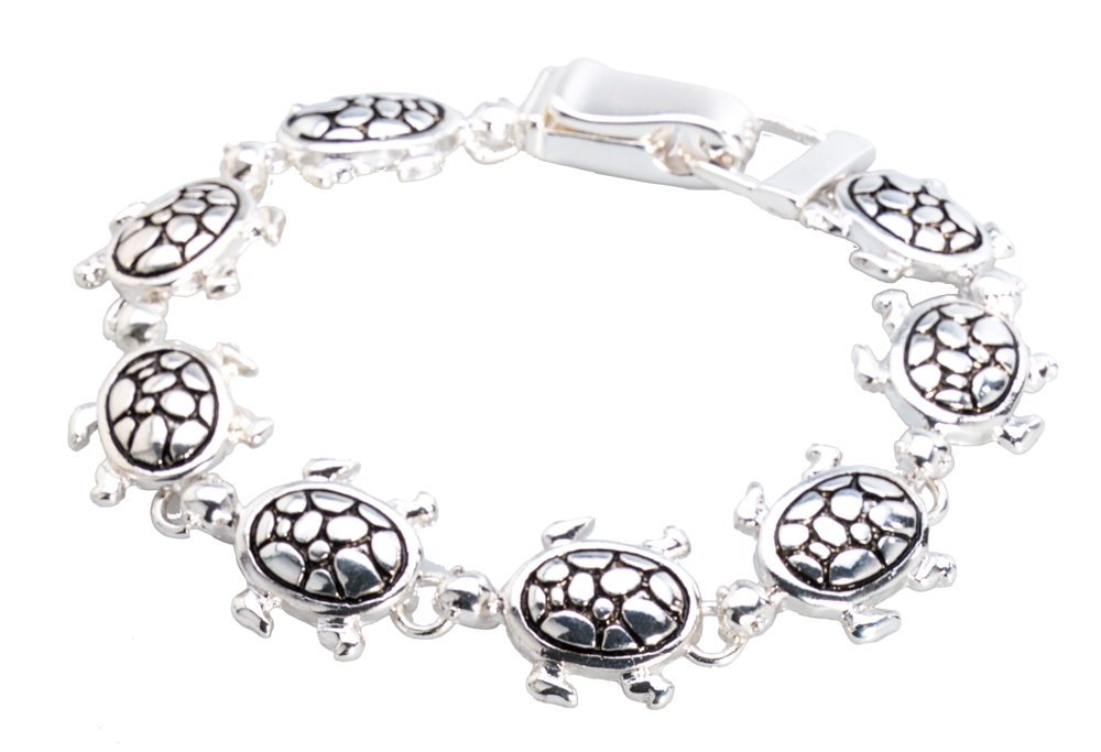Jewelry Nexus Silver-tone Sea Turtle Bracelet