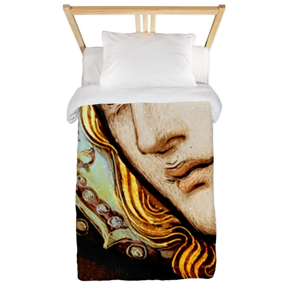 Twin Duvet Cover Mother Mary Stained Glass by Royal Lion