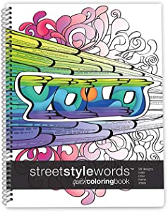 Action Publishing Coloring Book: Street Style Words Quick Coloring Book Intricate Slang Word Designs for Stress Relief, Relaxation and Creativity · Large (8.5 x 11 inches)