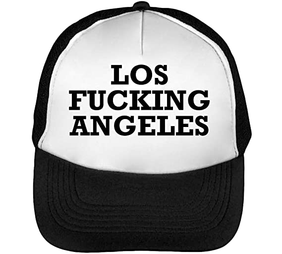 Los Fucking Angeles Funny Black Fonted Slogan Gorras Hombre ...