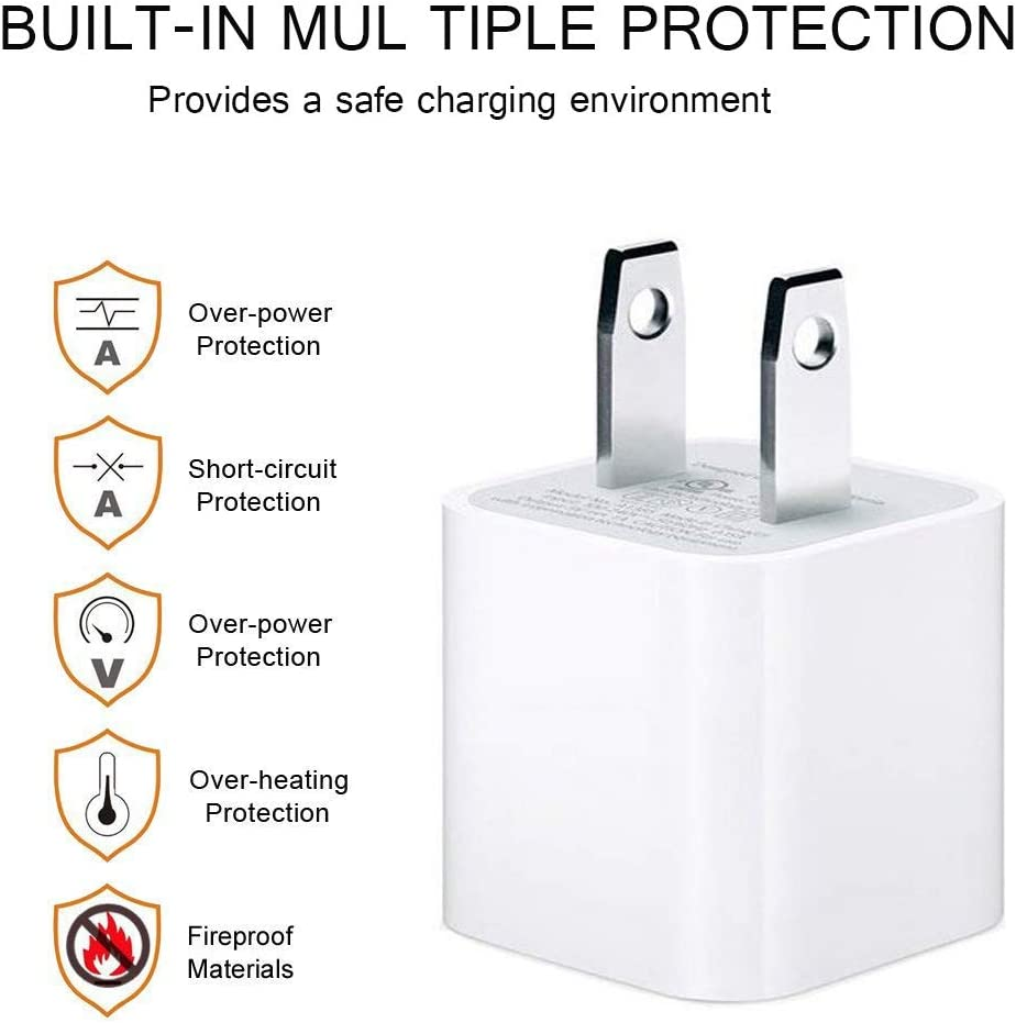 MFi Certified Cable Wire Data Sync Charging Cord Compatible with iPhone 11//Pro//Max//X//XS//XR//XS Max//8//Plus//7//7 Plus//6//6S//6 Plus More Lightning Cable iPhone Charger