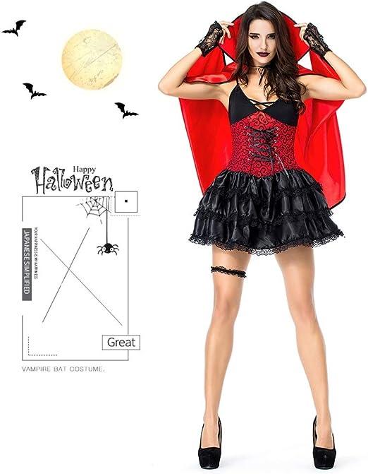 Casa, Disfraz De Bruja Reina con Cosplay,Trajes De Vampiros,Rojo ...