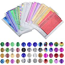 48 Sheet 35cm*4cm Mix Color Transfer Foil Nail Art Star Design Sticker Decal For Polish Care DIY