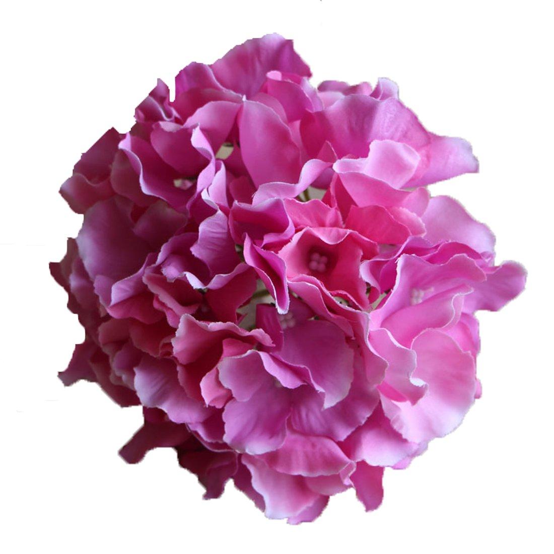 Calcifer 10 Pcs Mallorca Hydrangea Flowers Artificial Flowers for Home Garden Wedding Bohemia Hat Decor Blue