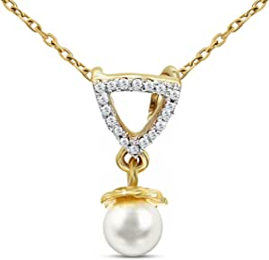 Tanache Necklace in 1.824 grams gold weight with 18 pcs. diamond stones in 0.04 carat weight