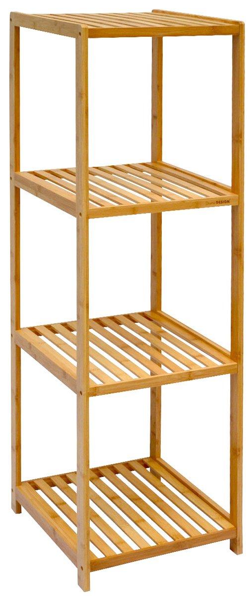 Dunedesign Xl Bambus Holz Regal 83 X 38 X 39 5 Cm 3 Facher Stand