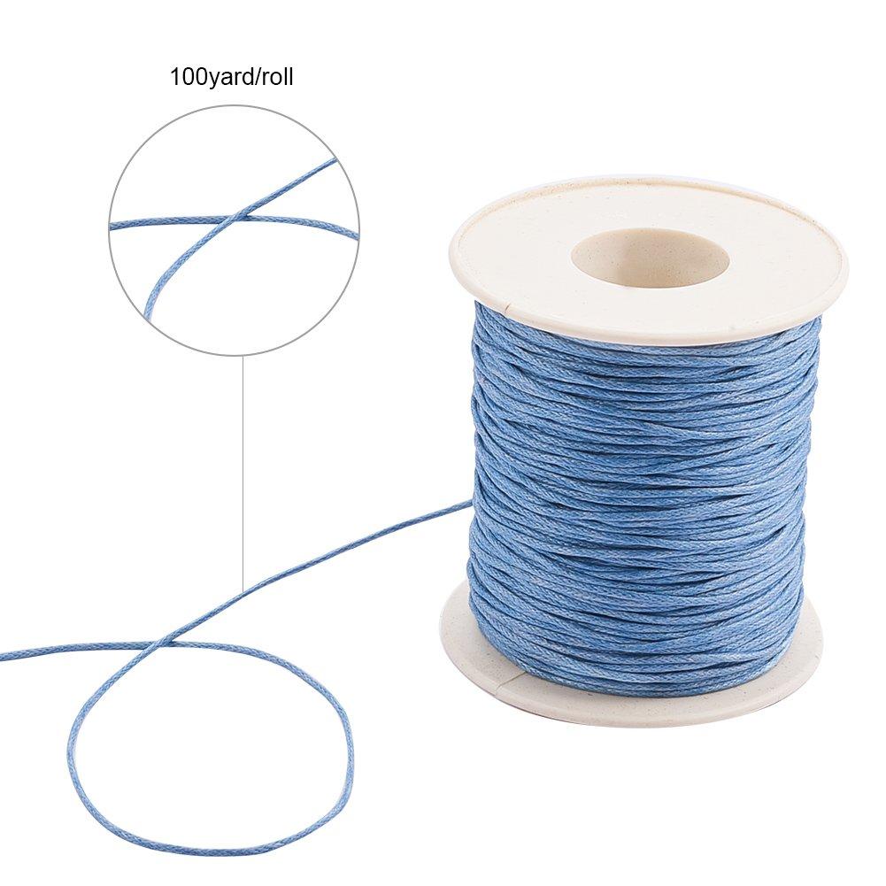 4846edabe95a Pandahall 1 rollo de 1 mm 100 yards hilo de algodón encerado cuerda de  abalorios para. Ampliar imagen