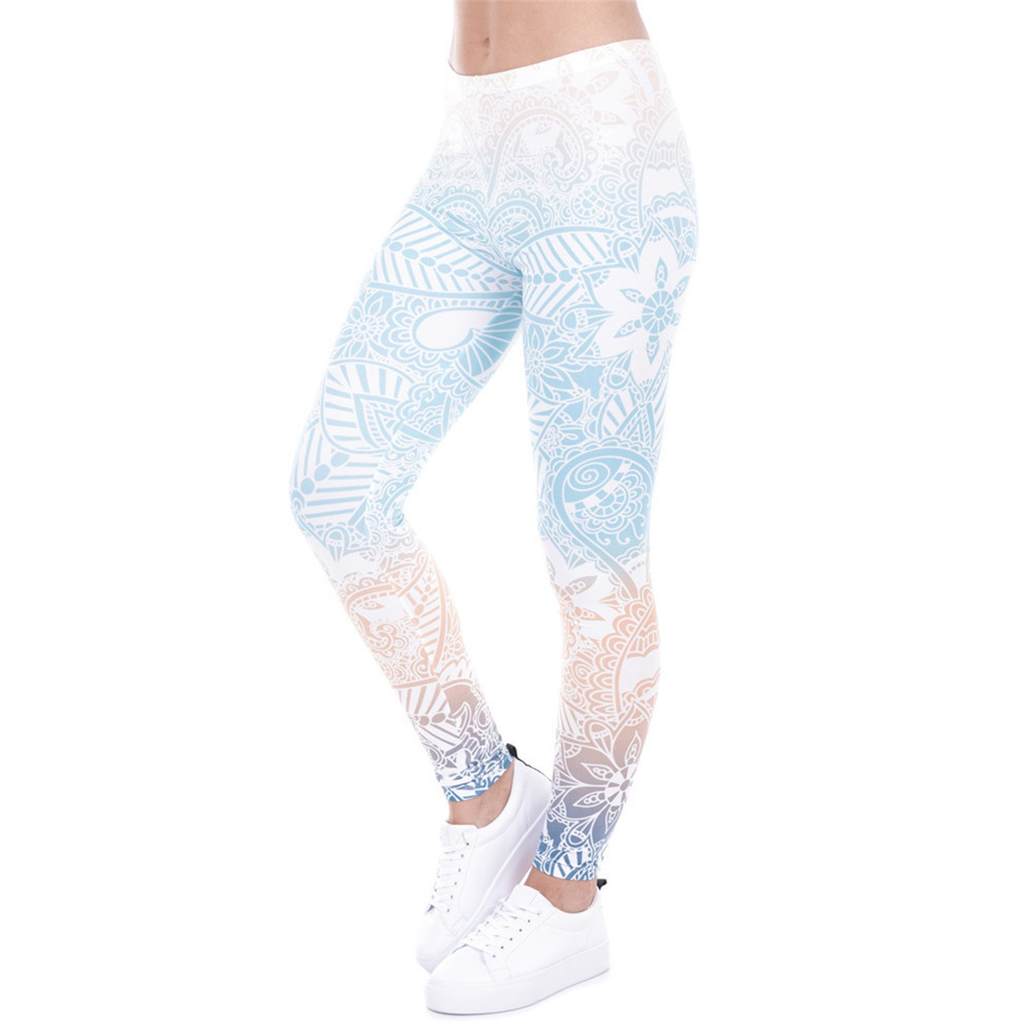 2857e4498d0285 MZjJPN Women Print Fitness High Elasticity Leggings 1 One Size Lovely at  Amazon Women's Clothing store: