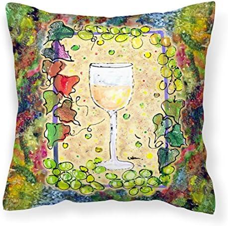 Caroline s Treasures 8617PW1414 Wine Decorative Canvas Fabric Pillow, 14Hx14W, Multicolor