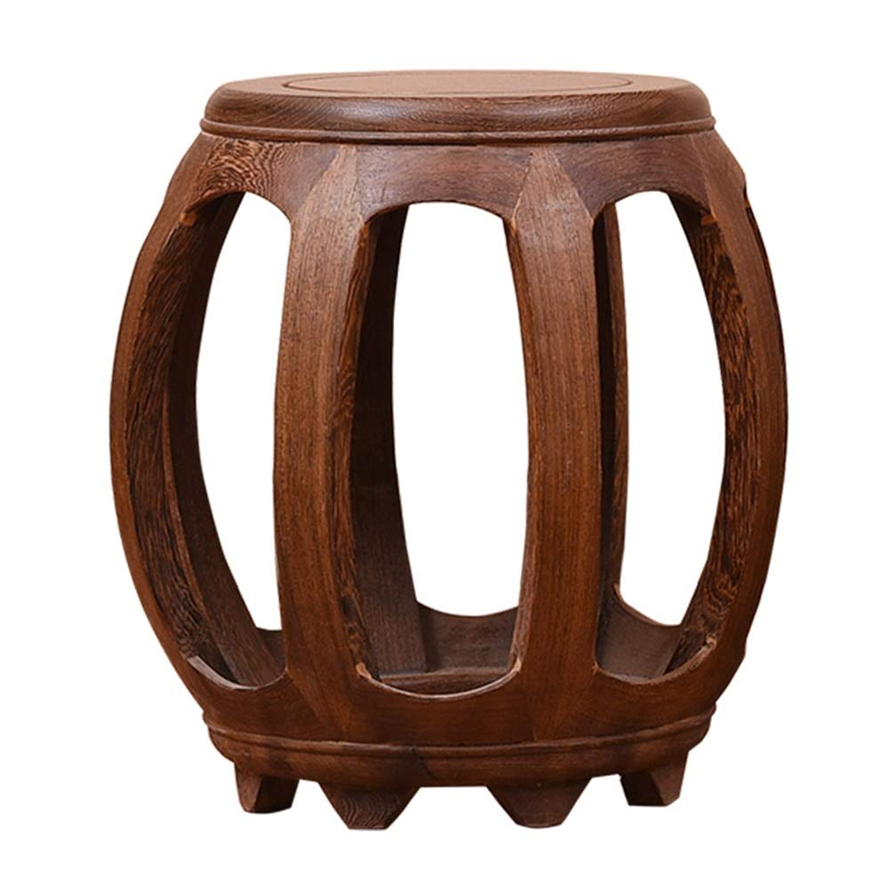 Brown 303043cm ZHANGQIANG Housewares Round Bamboo Stool - Brown (color   BROWN, Size   30  30  43cm)