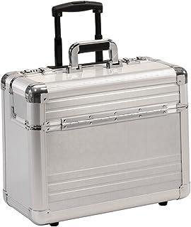 BORSE PILOTA Borsa da viaggio con ruote rullo trolley alluminio argento XL 49012