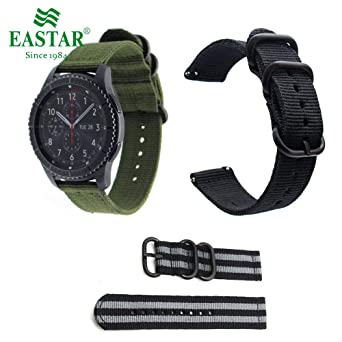Amazon.com: Jewh Genuine Classic Nylon Strap Samsung Gear S3 - Band Frontier Strap Gear S3 - Classic Watchband 22mm Watch Bracelet - Classical Watch ...