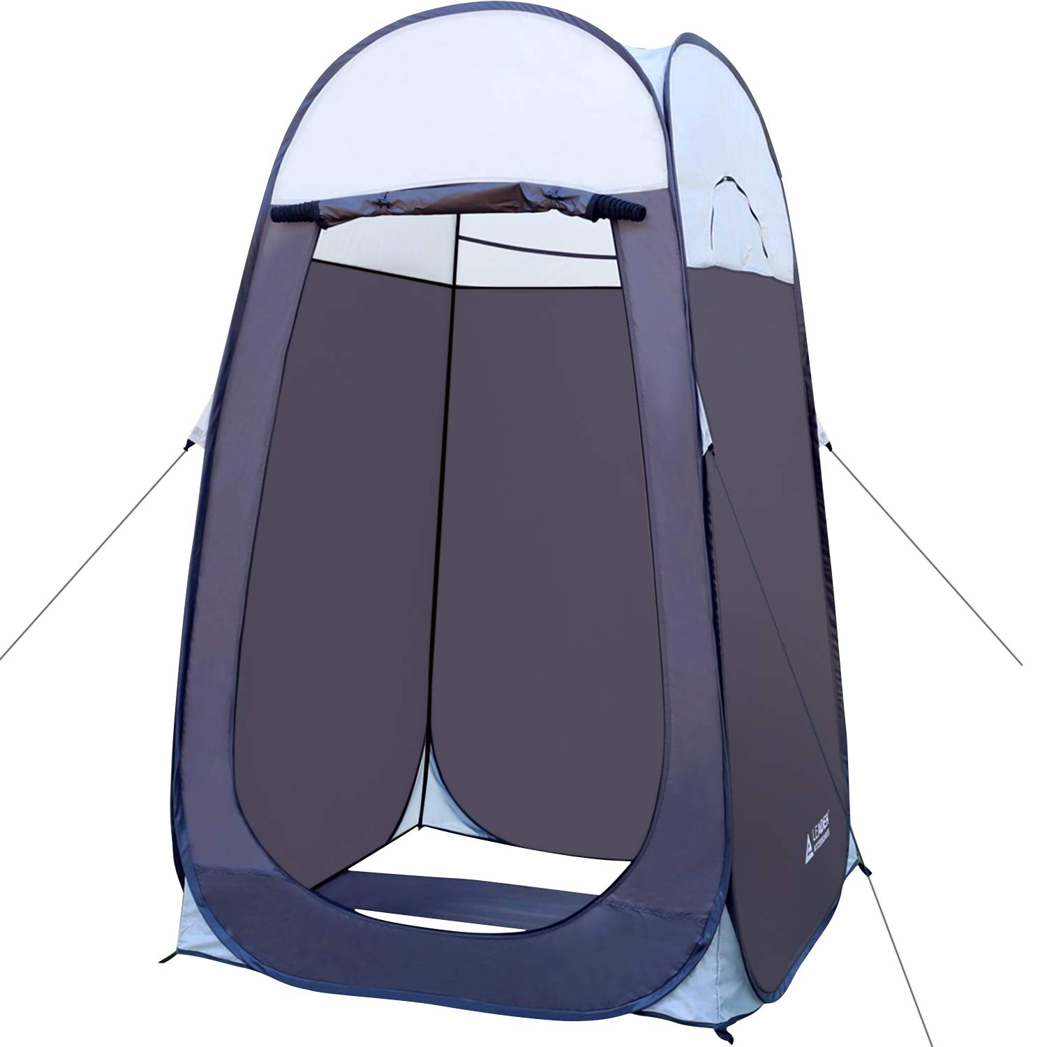 Leader Accessories Pop Up Shower Tent Dressing Changing Tent Pod Toilet Tent 4' x 4' x 78''(H) Big Size (1Grey) by Leader Accessories