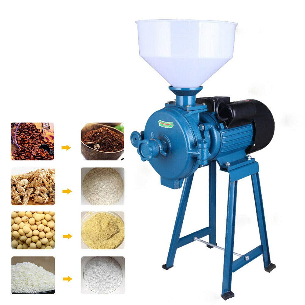 1500W Grinder Machine Flour Mill Cereals Grinder Electric Mill Corn Grain Coffee Wheat Feed Cutter 110V+ Funnel by DONSU