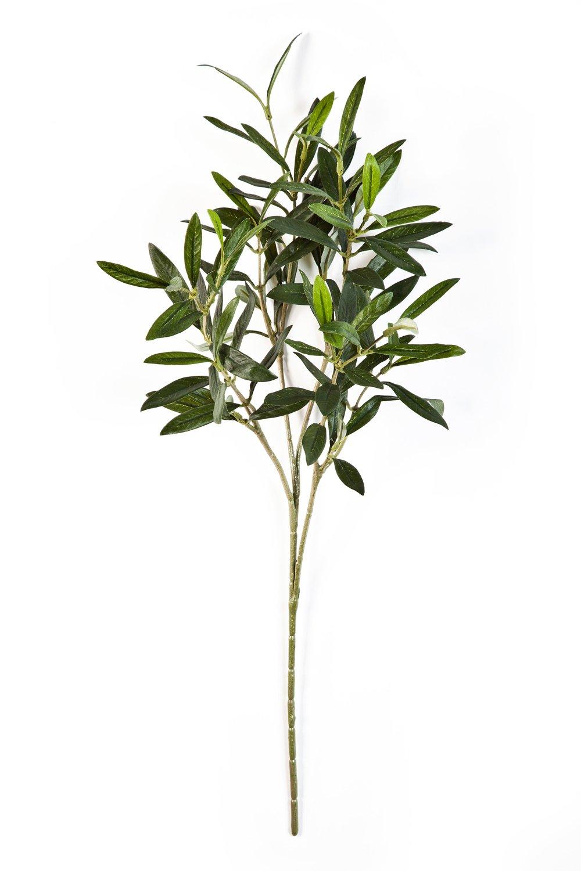 Ramo di olivo artificiale con 105 foglie, verde, 50 cm - Ulivo decorativo / Decorazione pensile - artplants