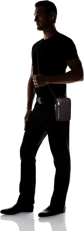 Black Lacoste homme NH3116IC L.12.Cuir Cabas et pochette Noir