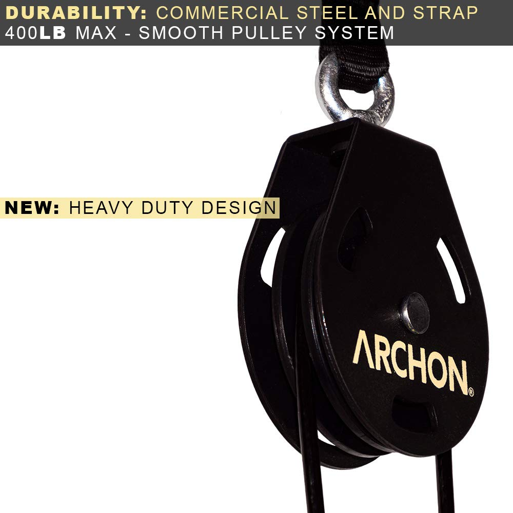 ARCHON Fitness Single Pulley Cable Station Pair (E: Single Pulley 70'' Pair) by ARCHON (Image #5)