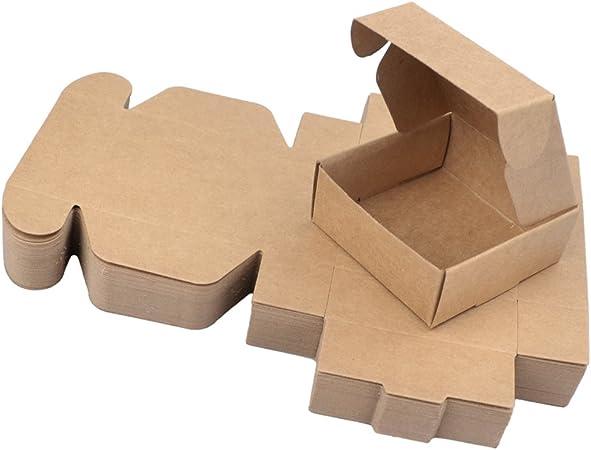 Freahap 50pcs Caja de Regalo Cuatro Tamaños Cajas de Papel Kraft para Jabón Cajas de Pastel Envoltura de Postre L: Amazon.es: Hogar