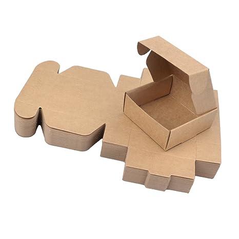 Milong 50PCS Cajas de Cartón Automontables para Empaquetar o Enviar L