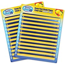 Sani Sticks, As Seen on TV Drain Cleaner and Deodorizer, Lemon Scent, 24 Pack