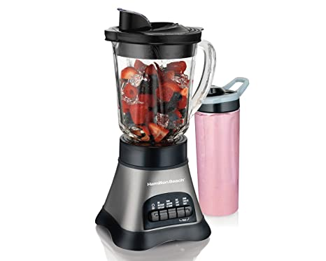 644afaadae5c Hamilton Beach (58161) Blender with 40 oz Jar & 20 oz Single Serve Travel  Jar, For Shakes & Smoothies, Bullet Blender