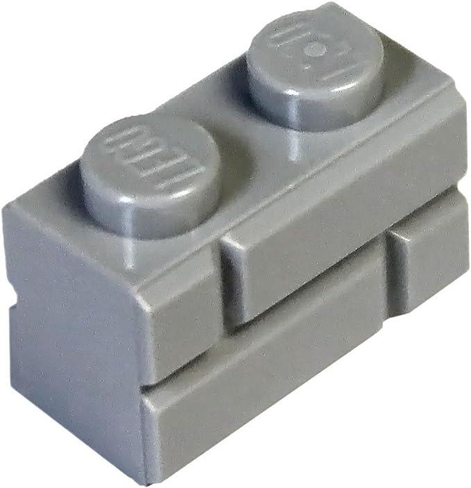 LEGO Lot of 25 Dark Bluish Gray 1x2 Building Bricks