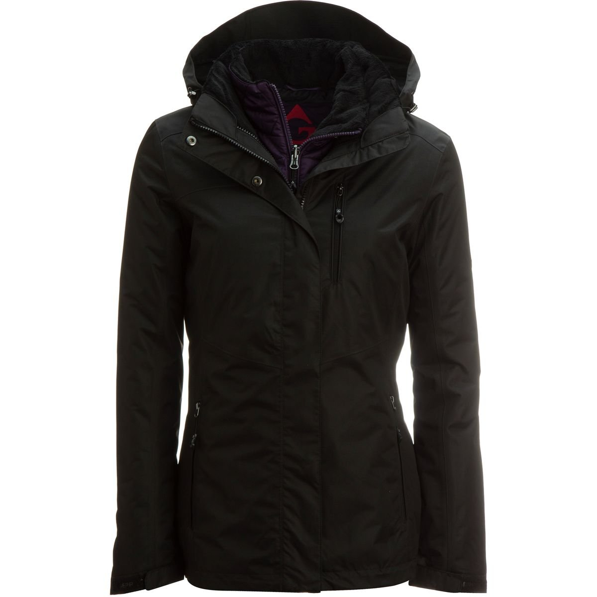 4ffddd49c Amazon.com: Gerry 3-in-1 Systems Jacket - Women's Black, L: Sports &  Outdoors