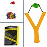 Kids Lawn Garden Summer Toy-Sling Shot Water Bomb Catapult With 20 Balloons For Great Outdoor Fun (Orange)