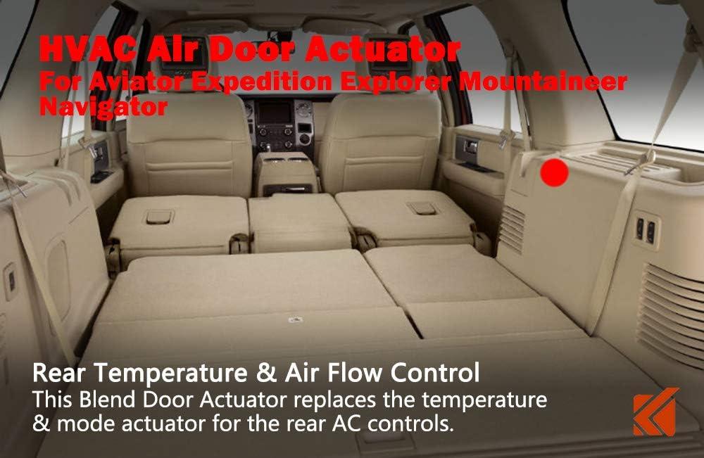 Sierra Silverado 1500 /& 2500 HVAC Blend Control Actuator Air Door Actuator fits 1994-2012 GMC Tahoe Repalces 15-72971 5242588 604-106