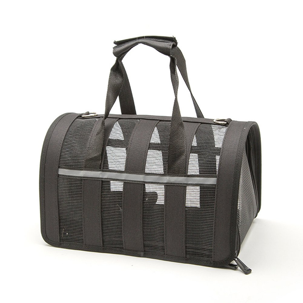 Pethouzz Pet Carrier for Cat & Small Dogs,Under Seat Compatability,Pet Travel Bag (Small, Black)