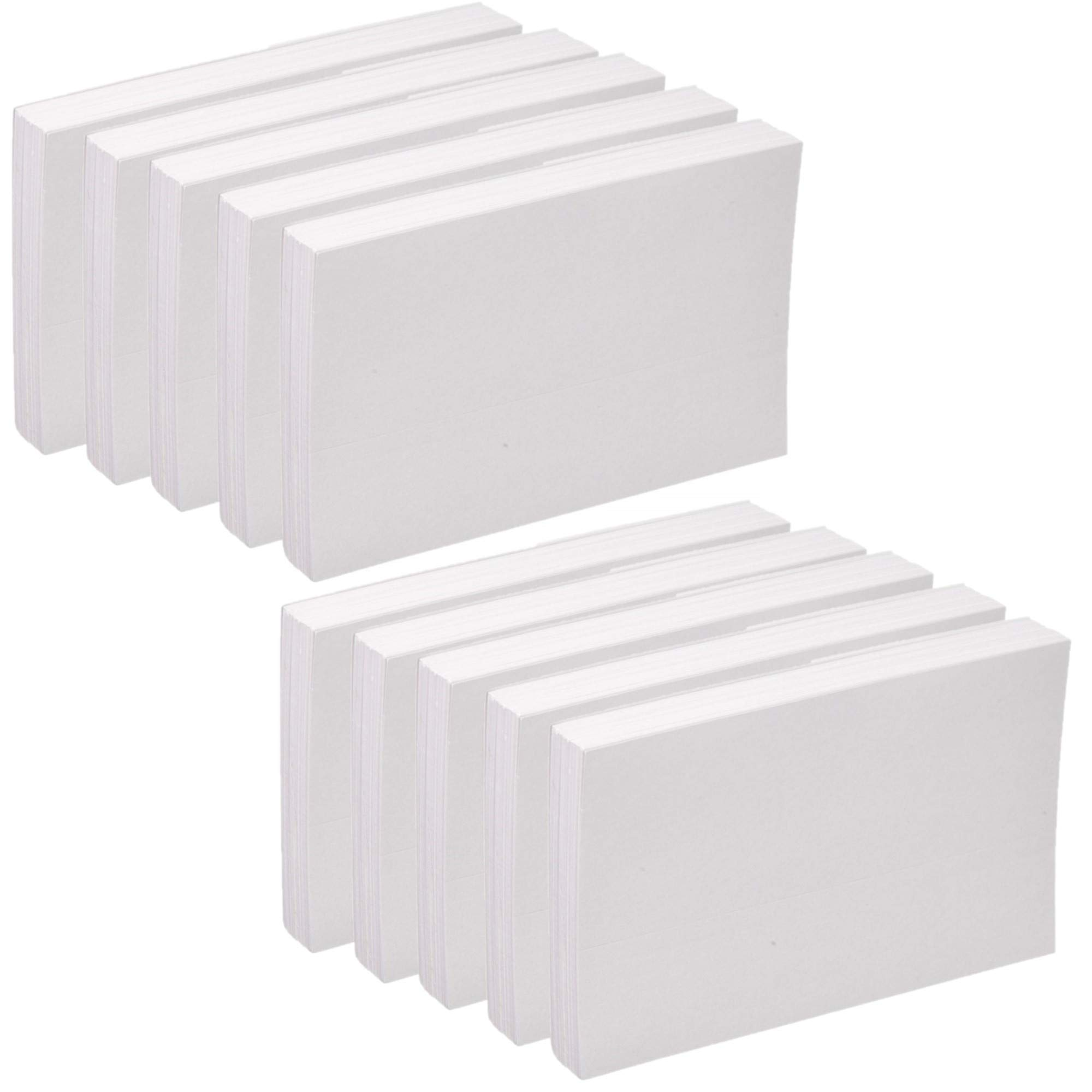 Oxford Blank Index Cards, 5'' x 8'', White, 100/Pack (10) by Oxford