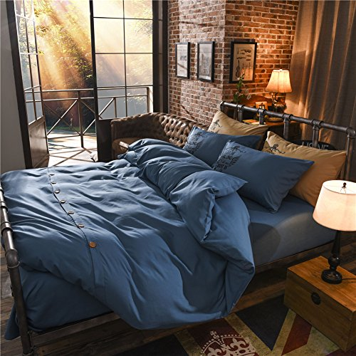 steel blue comforter - 5